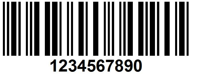 Штрих код открытка двойная
